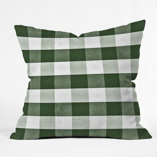 Deny Designs Green Plaid Indoor/Outdoor Throw Pillow (4 sizes)