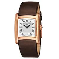 Frederique Constant Women's FC-220M2EC4 'Slim Line' Silver Dial Grey Satin Leather Strap Swiss Quartz Watch