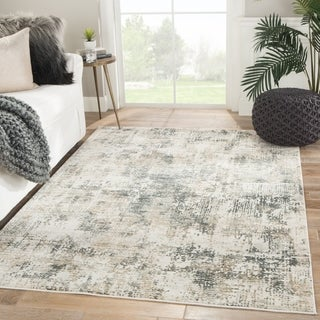 Caden Abstract Gray/ Ivory Area Rug - 5' x 7'6""