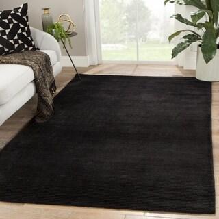 "Phase Handmade Solid Black Area Rug - 8'10"" x 11'9"""