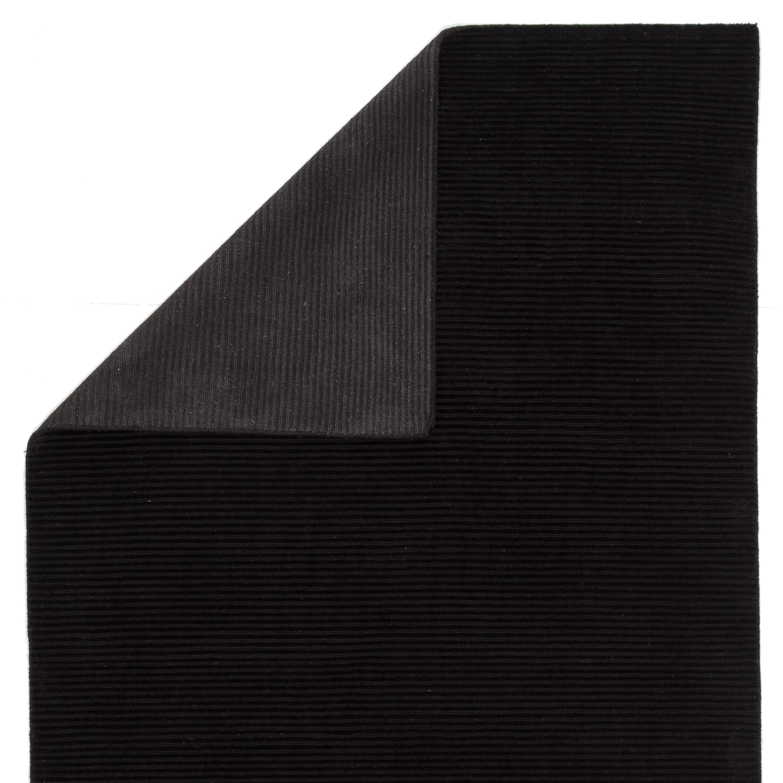 Phase Handmade Solid Black Area Rug