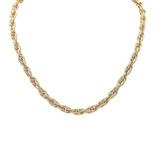 14k Yellow Gold Rope Chain Necklace, 20 Inches