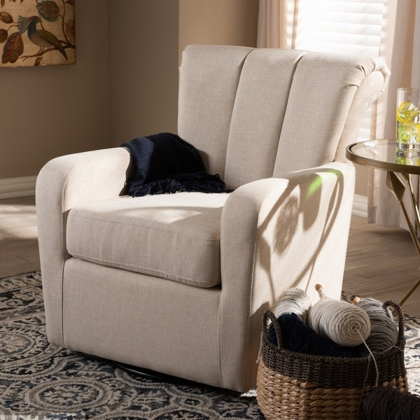 Shop Contemporary Fabric Swivel Chair - Free Shipping Today ...