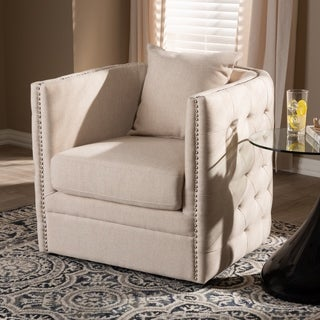 Contemporary Fabric Swivel Chair