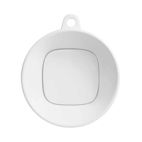 """16"""" Cast Round Above Counter Ceramic Vessel Sink without Overflow in White - 16.14 x 19.29"""