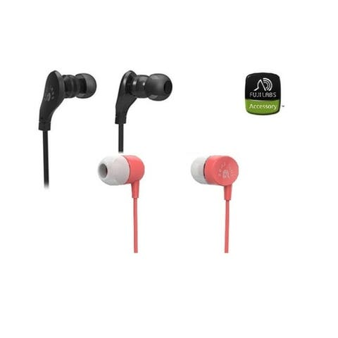 Fuji Labs AUFJ-SQNMS203 AUFJ-SQNMS101 Sonique 2-in-1 Headphones Bundle