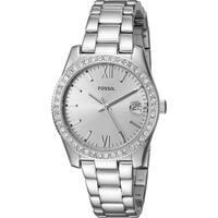 Fossil Women's ES4317 Scarlette Silver Dial Stainless Steel Bracelet Watch
