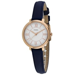 Fossil Women's ES4410 Jacqueline White Dial Navy Leather Watch