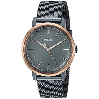 Fossil Women's ES4312 Neely Blue Stainless Steel Mesh Bracelet Watch