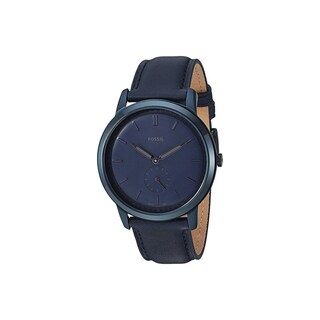 Fossil Men's FS5448 The Minimalist Blue Dial Indigo Leather Watch