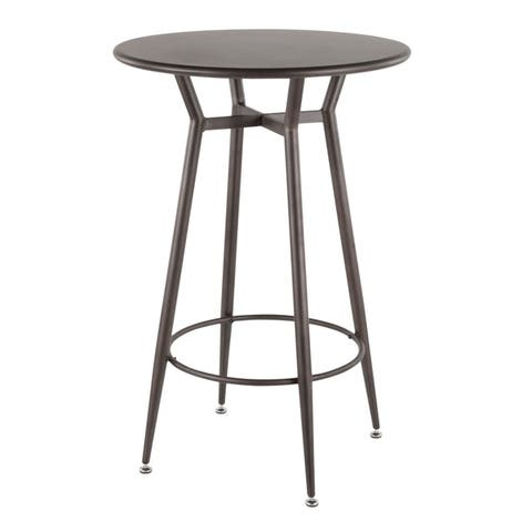 Carbon Loft Barton Industrial Round Bar Table - N/A
