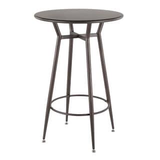 Carbon Loft Flores Industrial Round Bar Table