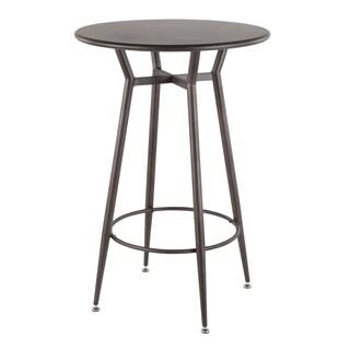 LumiSource Clara Industrial Round Bar Table - N/A