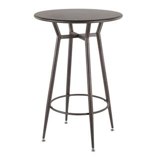 LumiSource Clara Industrial Round Bar Table