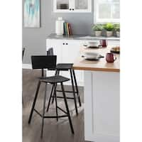 LumiSource Rocco Industrial Wood & Metal Counter Stool (Set of 2)