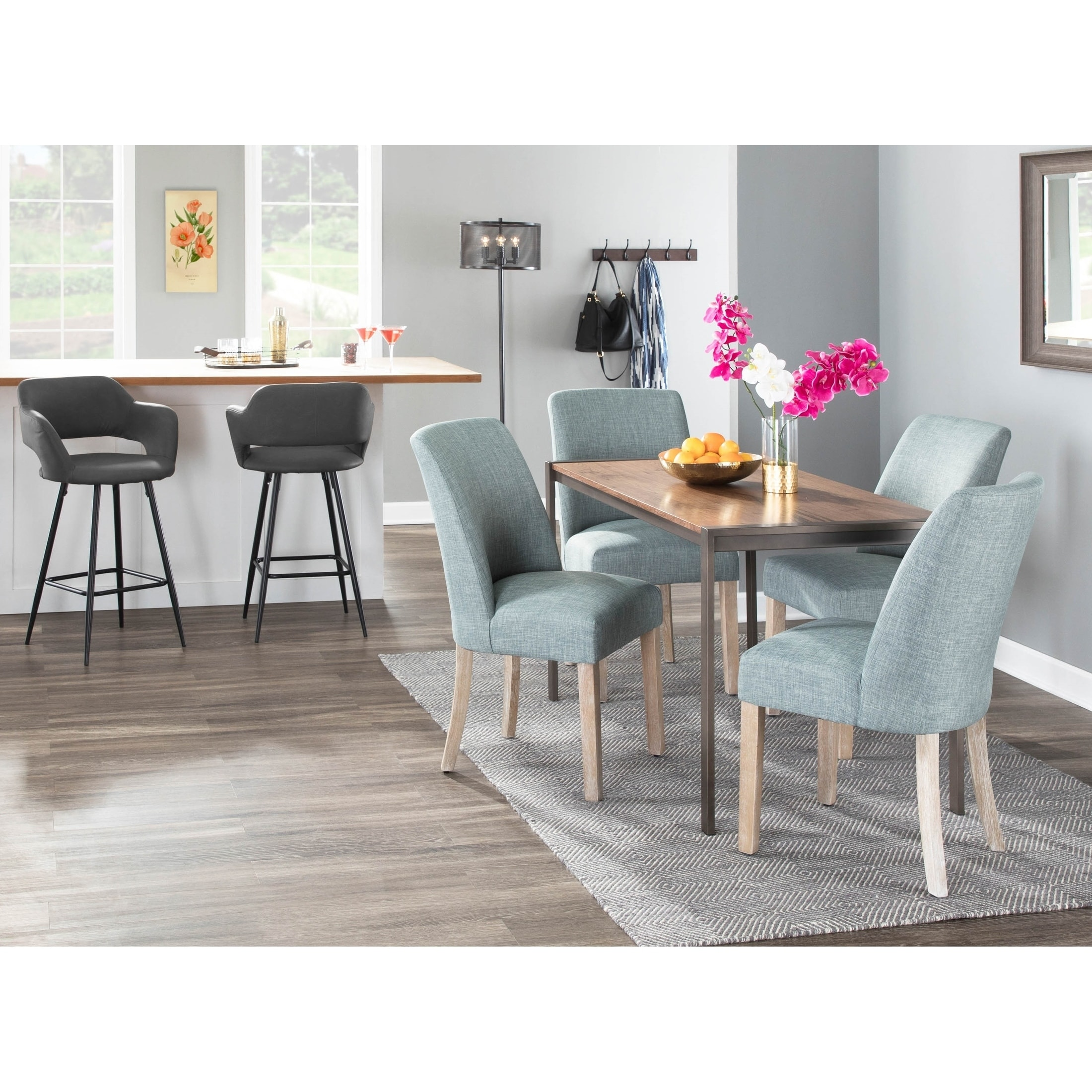 The Gray Barn Spelling Stream Farmhouse Upholstered Dining Chair With White Washed Wood Set Of 2 N A On Sale Overstock 25661081 Grey
