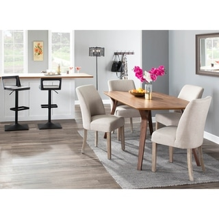The Gray Barn Spelling Stream Farmhouse Upholstered Dining Chair with White Washed Wood (Set of 2)