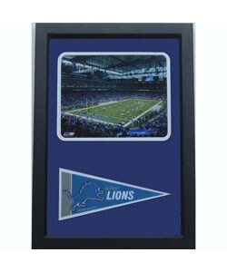 Detroit Lions Ford Field with Mini-pennant Frame