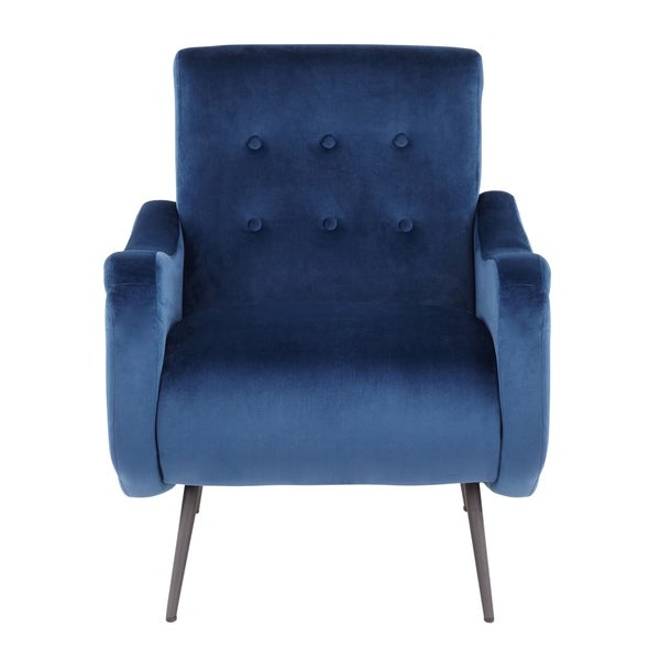 LumiSource Rafael Contemporary Velvet Lounge Chair. Opens flyout.