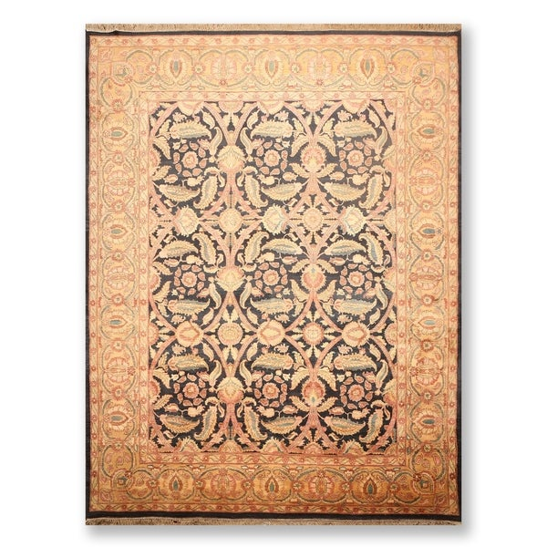 """Traditional Hand Knotted Wool Persian Oriental Area Rug (9'1""""x12'3"""") - 9'1"""" x 12'3"""""""