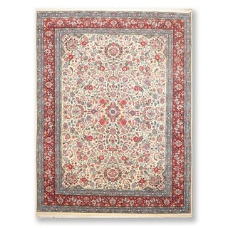 "Qum 300 KPSI Superfine Hand Knotted Wool Persian Oriental Area Rug (9'x12'6"") - 9' x 12'6"""