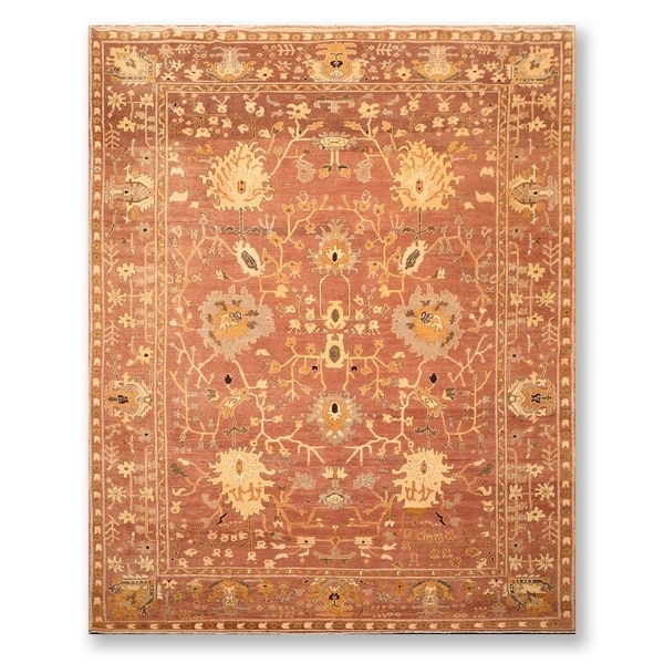 """Authentic Turkish Oushak Hand Knotted Wool Persian Area Rug (8'10""""x12'4"""") - 8'10"""" x 12'4"""""""