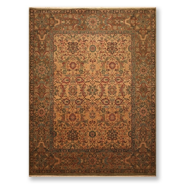 Hand Knotted 200 KPSI Vegetable Dyes Wool Persian Oriental Area Rug (9'x12') - 9' x 12'