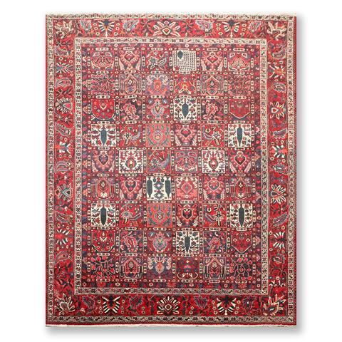 """Panel Bhaktiyaari Hand Knotted Wool Persian Oriental Area Rug (8'8""""x11'5"""") - 8'8"""" x 11'5"""""""