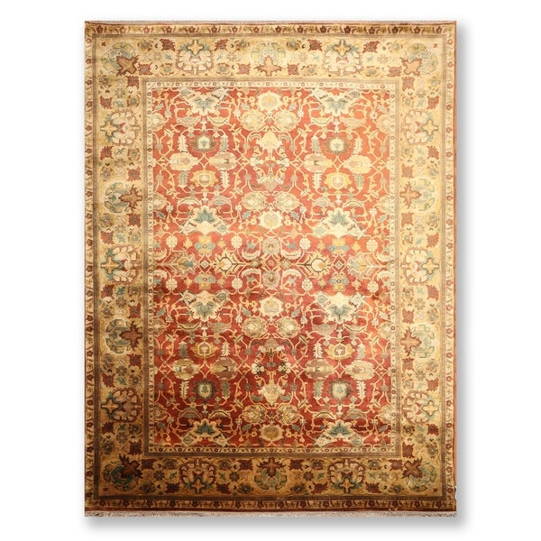 """Hand Knotted Wool Tea Wash Persian Oriental Area Rug (9'3""""x12'4"""") - 9'3"""" x 12'4"""""""