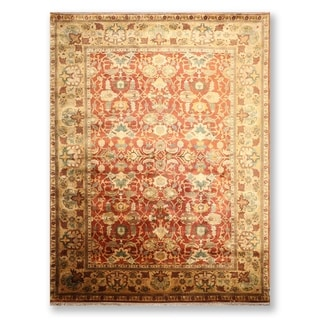 "Hand Knotted Wool Tea Wash Persian Oriental Area Rug (9'3""x12'4"") - 9'3"" x 12'4"""