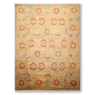 Hand Knotted Wool Tea Wash Persian Oriental Area Rug  (9'x12') - 9' x 12'