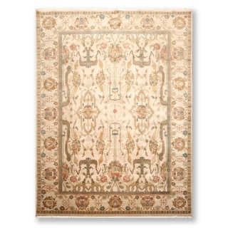Hand Knotted  Traditional Agra Wool Persian Oriental Area Rug (9'x12') - 9' x 12'