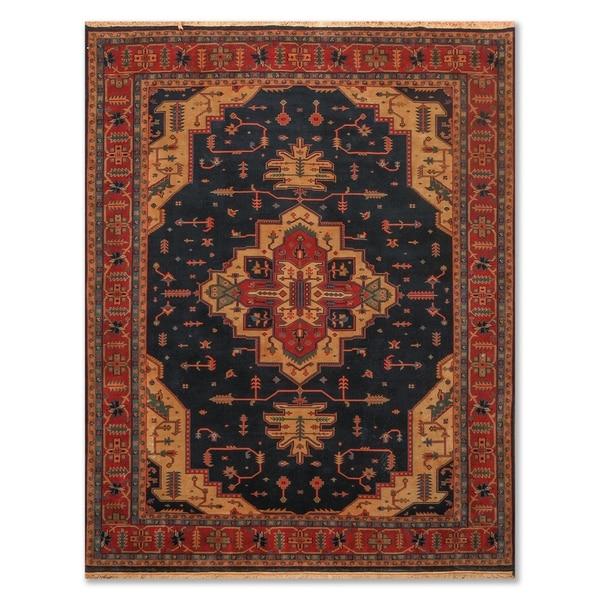 "Hand Knotted Heriz Wool Tea Wash Persian Area Rug (7'9""x9'9"") - 7'9"" x 9'9"""