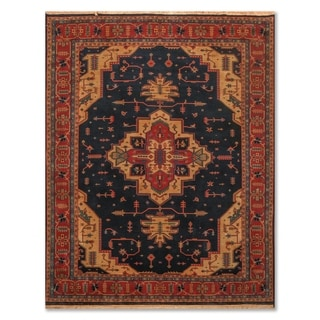 "Hand Knotted Heriz Wool Tea Wash Persian Area Rug (7'9""x9'9"") - 7'9"" x 9'9"""