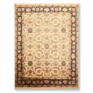 Hand Knotted Jaipur Wool Persian Oriental Area Rug (9'x12') - 9' x 12'
