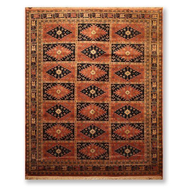 """Hand Knotted Wool Tea wash Persian Oriental Area Rug (7'9""""x9'9"""") - 7'9"""" x 9'9"""""""