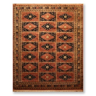 "Hand Knotted Wool Tea wash Persian Oriental Area Rug  (7'9""x9'9"") - 7'9"" x 9'9"""
