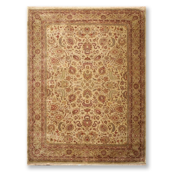 """Hand Knotted Traditional 200 KPSI Wool Persian Oriental Area Rug (9'x11'8"""") - 9' x 11'8"""""""