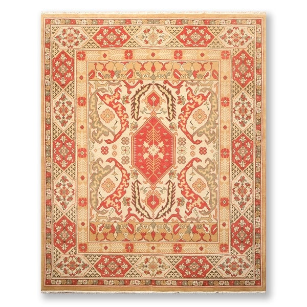 Hand Knotted Persian Wool Area Rug 5 10: Shop Authentic Hand Knotted Turkish Oushak Wool Persian