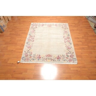 "Hand Knotted Wool Tibetan Oriental Area Rug (6'9""x8') - 6'9"" x 8'"