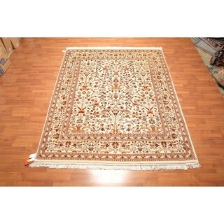 "Hand Knotted Pictorial Wool Persian Oriental Area Rug (7'11""x9'4"") - 7'11"" x 9'4"""