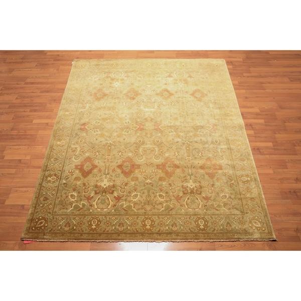 "Hand Knotted 200 KPSI Tea Wash Wool Persian Oriental Area Rug (8'1""x9'8"") - 8'1"" x 9'8"""