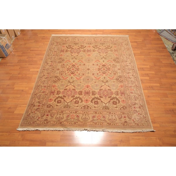 Traditional Oushak Hand Knotted Wool Oriental Area Rug (8'x10') - 8' x 10'