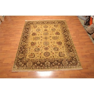 "Hand Knotted Tea wash Vegetable Dyes Wool Persian Oriental Area Rug (7'10""x9'10"") - 7'10"" x 9'10"""