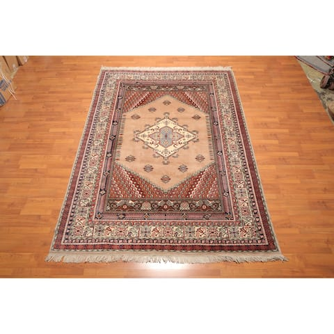 "Hand Knotted Authentic Turkish Wool Area Rug (6'11""x9'8"") - 6'11"" x 9'8"""