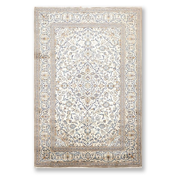 """Kashan Superfine Hand Knotted Wool Persian Area Rug (6'5""""x9'1"""") - 6'5"""" x 9'1"""""""