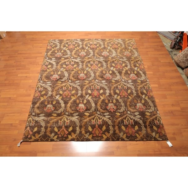 Hand Knotted Wool Kalaty Oriental Area Rug 8 X9 9 8 X 9 9 Overstock 25662713