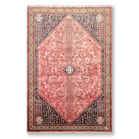 """Abadeh Hand Knotted Wool Persian Oriental Area Rug (6'9""""x9'6"""") - 6'9"""" x 9'6"""""""