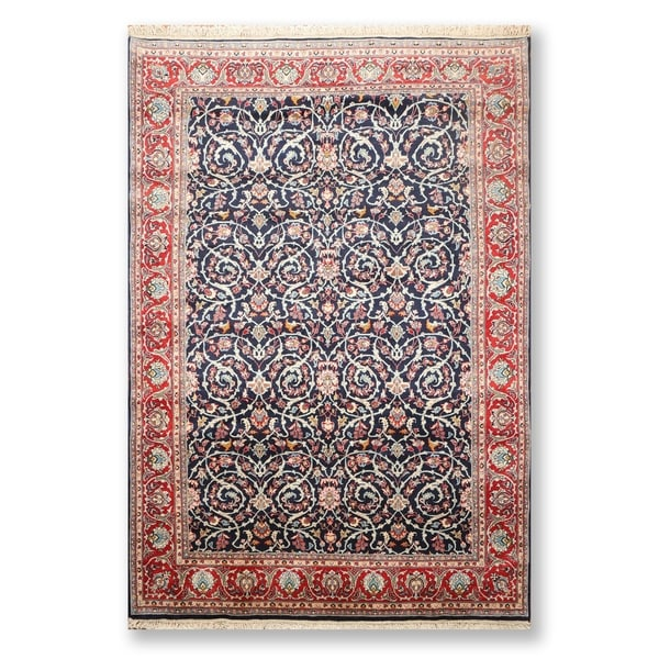 """Hand Knotted Wool Persian Oriental Area RugTraditional Yazd 200 KPSI (6'8""""x9'11"""") - 6'8"""" x 9'11"""""""