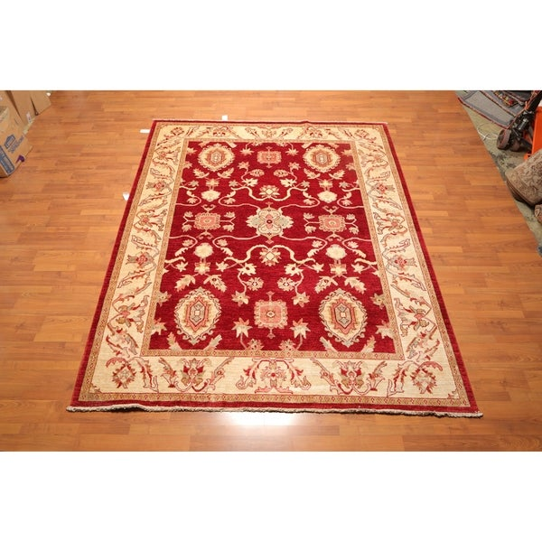 "Traditional Kazak Hand Knotted Wool Oriental Area Rug (7'11x9'9"") - 7'11 x 9'9"""